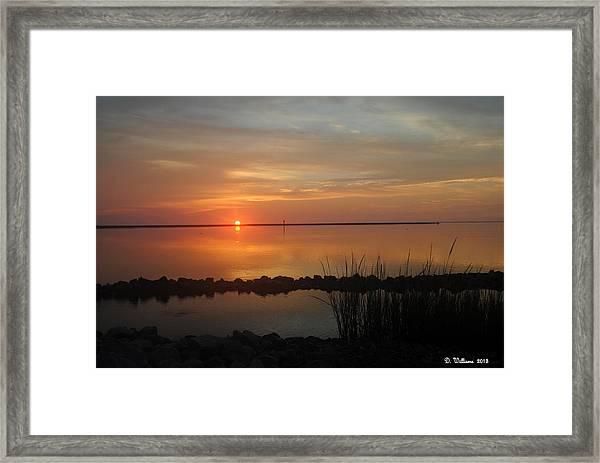 Sunrise Reflection Framed Print