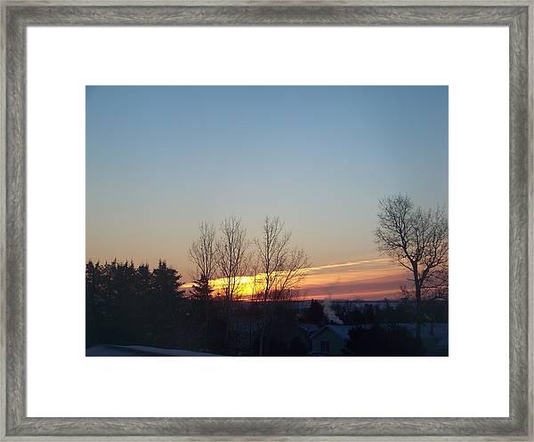 Sunrise Streaks Framed Print