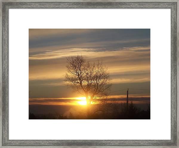 Sunrise Sunburst Framed Print