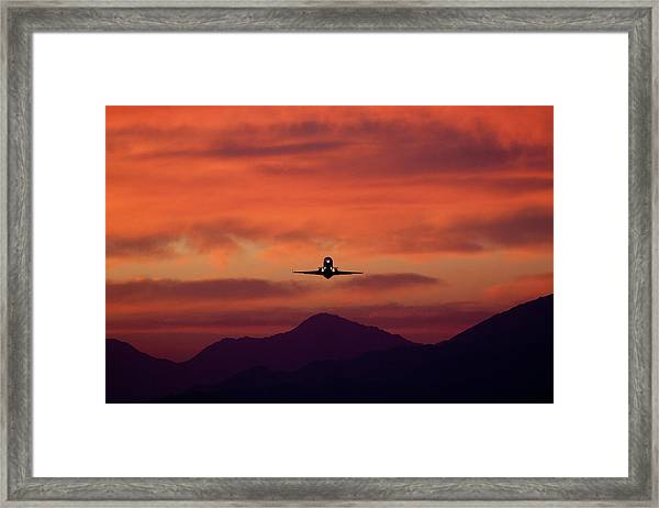 Sunrise Takeoff Framed Print