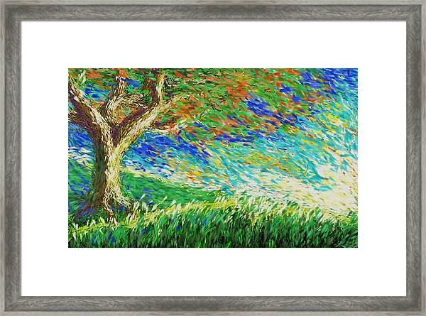 The War Of Wind And Sun Framed Print