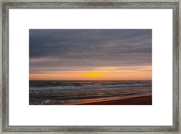 Sunrise Under The Clouds Framed Print