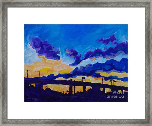 Sunrise Under The Overpass Framed Print