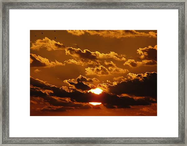 Framed Print featuring the photograph Sunset 5 by Bob Slitzan