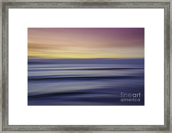 Sunset Abstract Framed Print