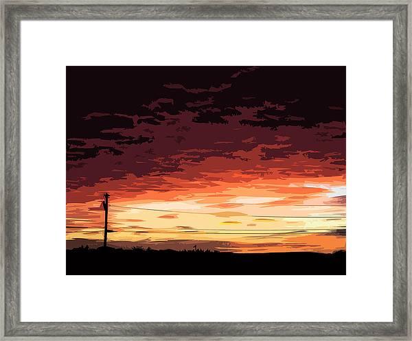 Sunset Alternative Framed Print