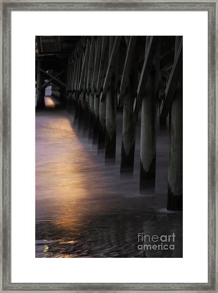 Sunset Apache Pier Framed Print