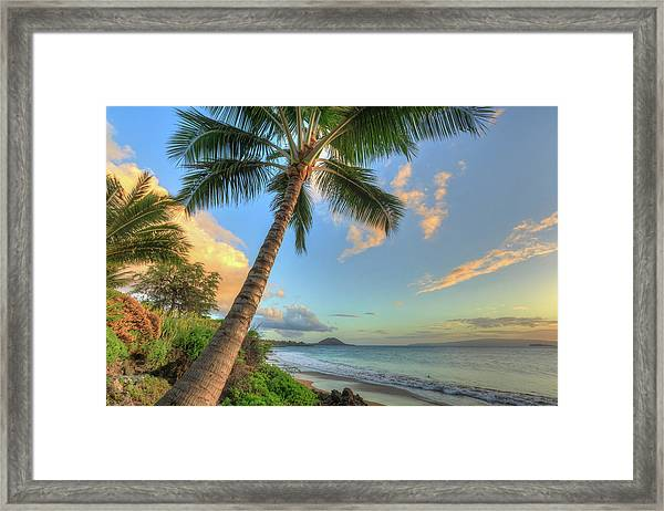 Sunset At Beach, Wailea, Maui, Hawaii Framed Print by Stuart Westmorland