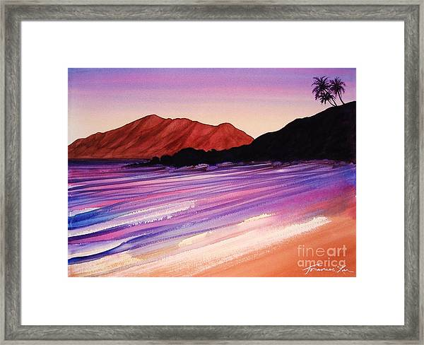 Sunset At Black Rock Maui Framed Print