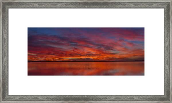 Sunset At Cheyenne Bottoms 1 Framed Print