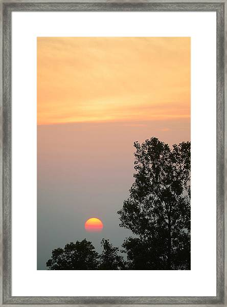 Sunset At Forks Of The Credit Park Framed Print