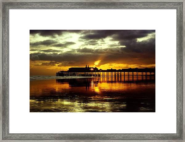Sunset At Hastings Pier Uk Framed Print