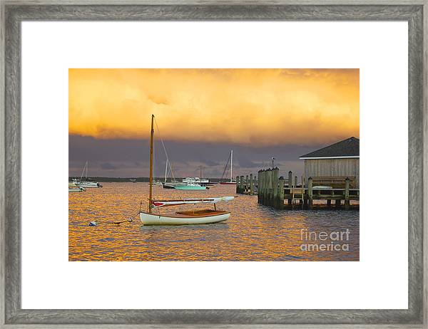 Sunset At Kennedy Compound Framed Print