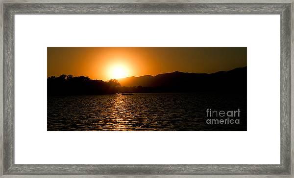 Sunset At Kunming Lake Framed Print