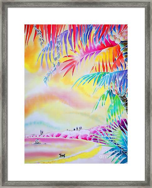 Sunset At Kuto Beach Framed Print