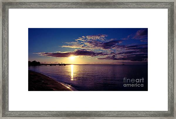 Sunset At Monkey Mia Framed Print