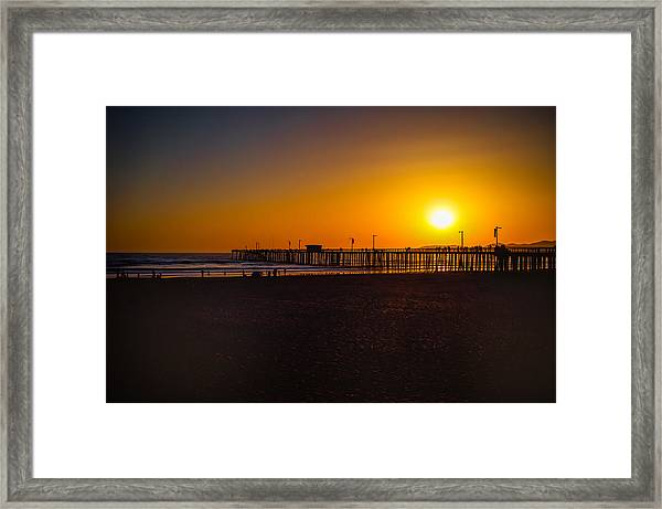 Sunset At Pismo Framed Print
