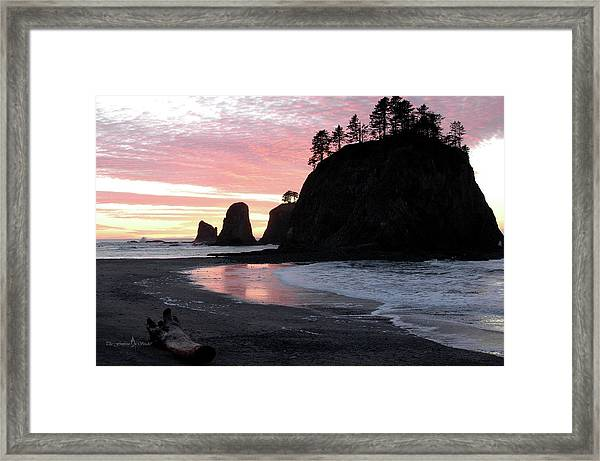 Sunset At Rialto Beach 1 Framed Print