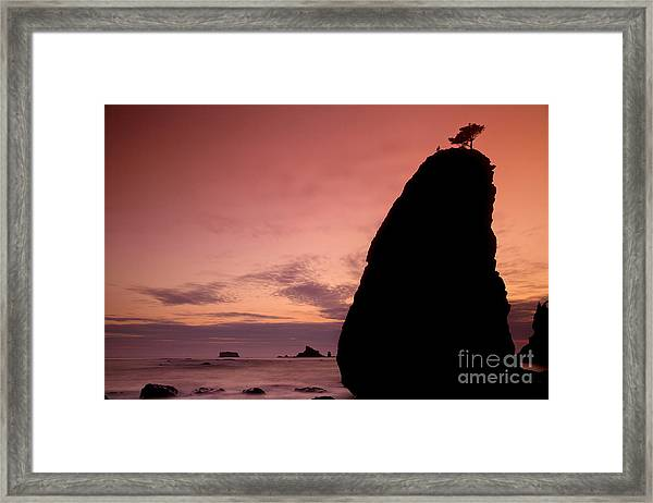 Sunset At Rialto Beach Framed Print by Keith Kapple