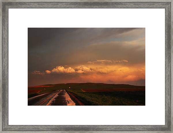 Sunset At Rockglen Framed Print