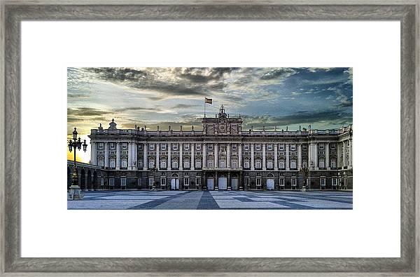 Sunset At Royal Palace Framed Print