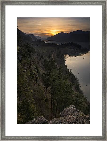 Sunset At Ruthton Point Framed Print