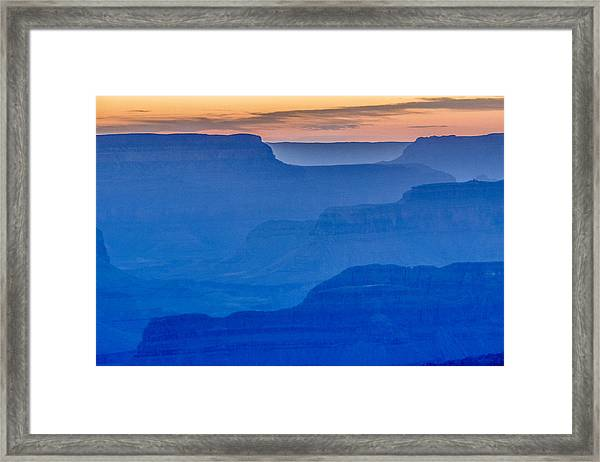 Sunset At South Rim Framed Print