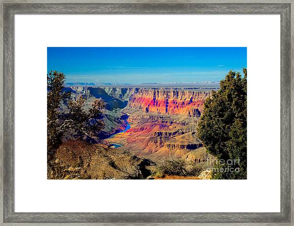 Sunset At South Rim Framed Print