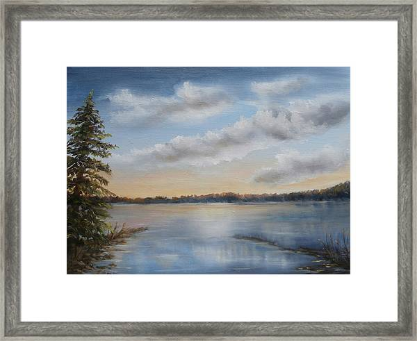 Sunset At Sparta Lake New Jersey Framed Print