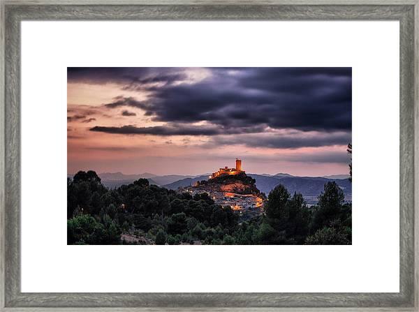 Sunset At The Castle Framed Print