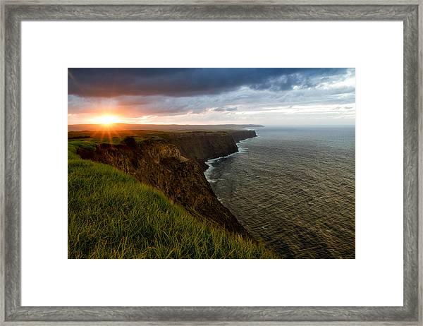 Sunset At The Cliffs Framed Print