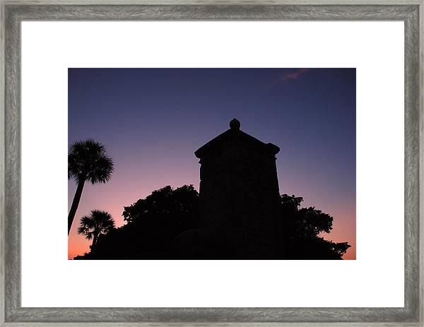 Sunset At The Gate Framed Print