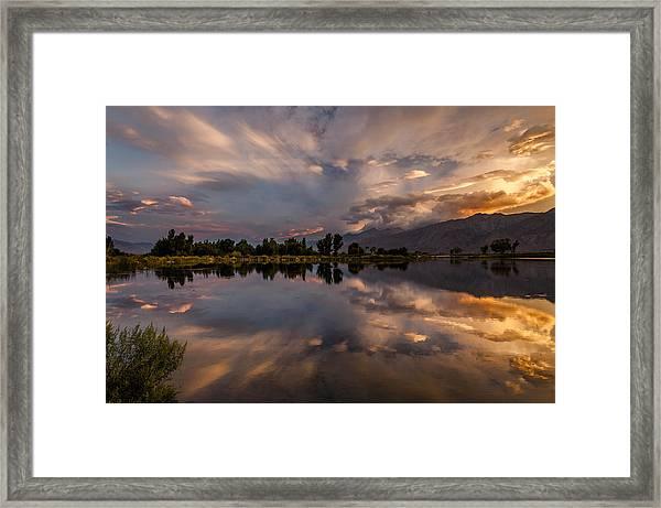 Sunset At The Pond Framed Print