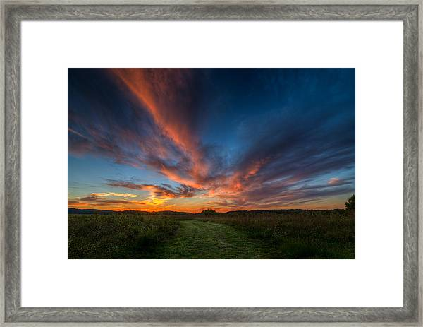 Sunset At Valley Forge Framed Print