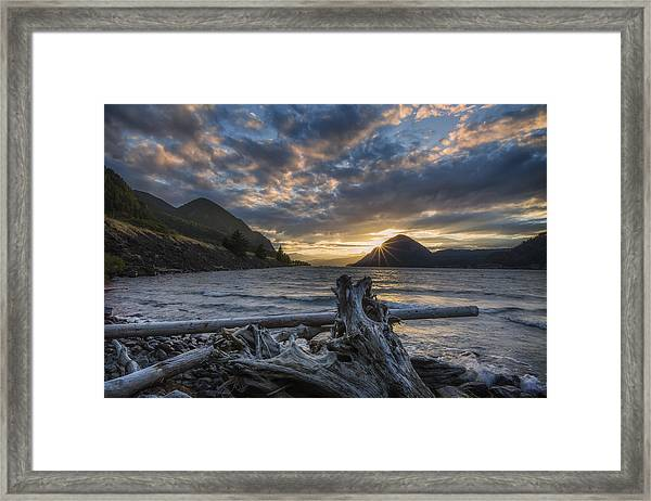 Sunset At Wind Mountain Framed Print