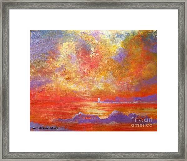 Sunset At Wingershaek Beach Framed Print
