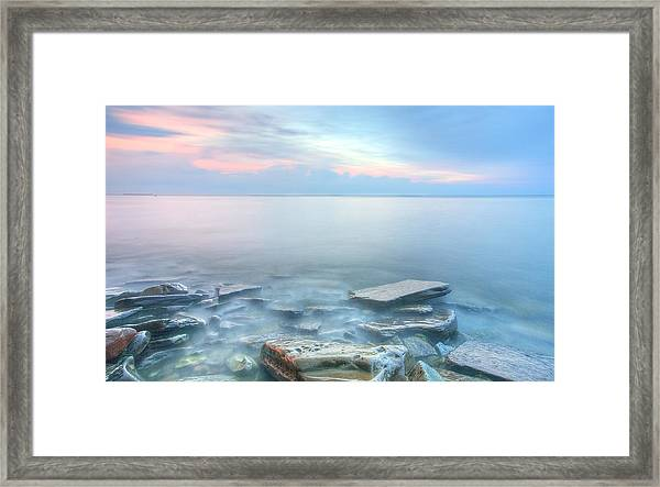 Sunset Bay Park Framed Print
