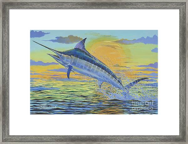 Sunset Blue Off0085 Framed Print