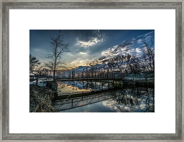 Sunset Bridge 2 Framed Print
