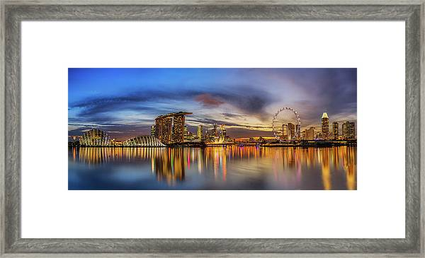 Sunset By The Bay Framed Print