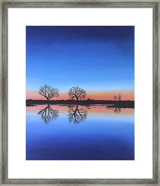 Sunset By The River Thames Framed Print