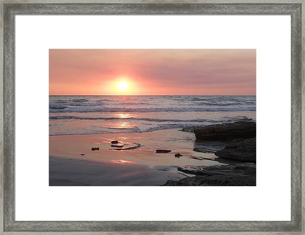 Sunset Cable Beach Framed Print
