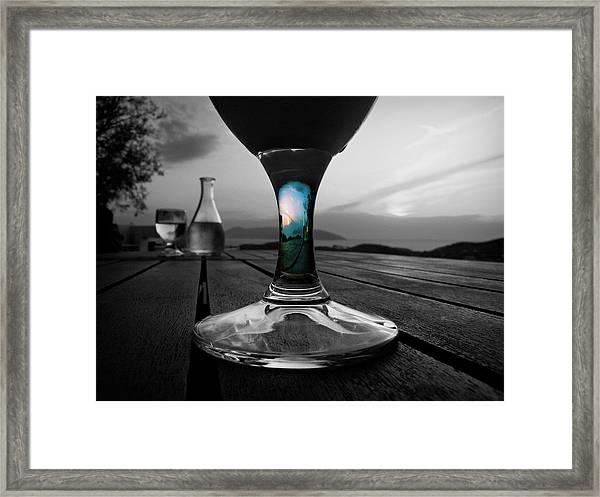Sunset Cafe Framed Print