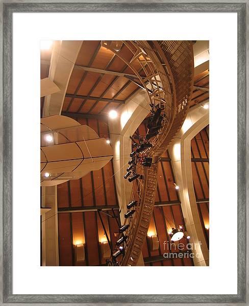 Sunset Center Catwalk Framed Print
