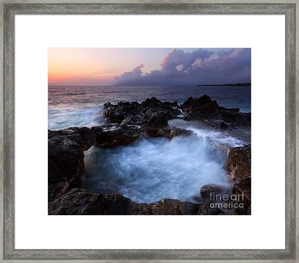 Sunset Churn Framed Print
