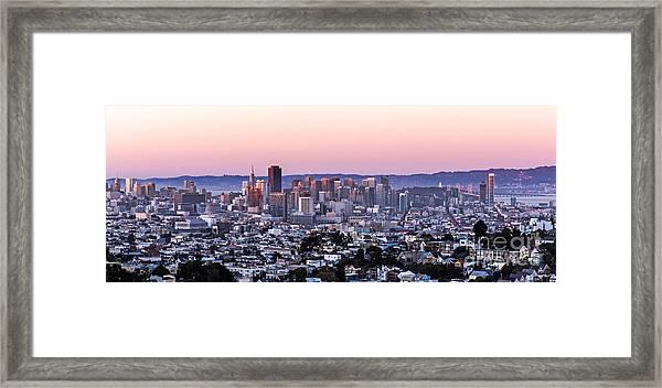 Sunset Cityscape Framed Print
