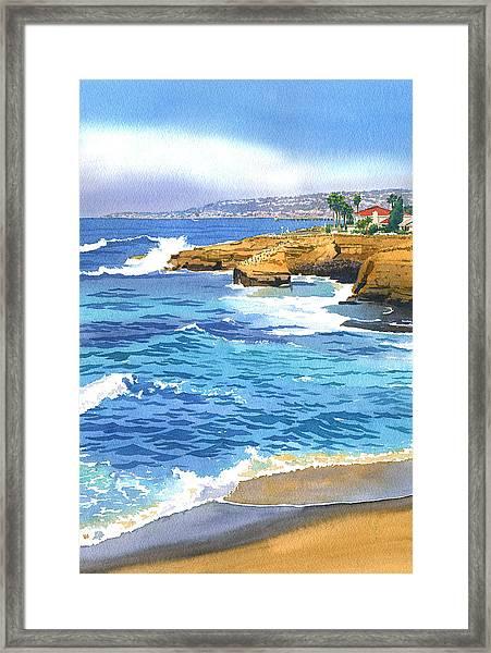 Sunset Cliffs Point Loma Framed Print