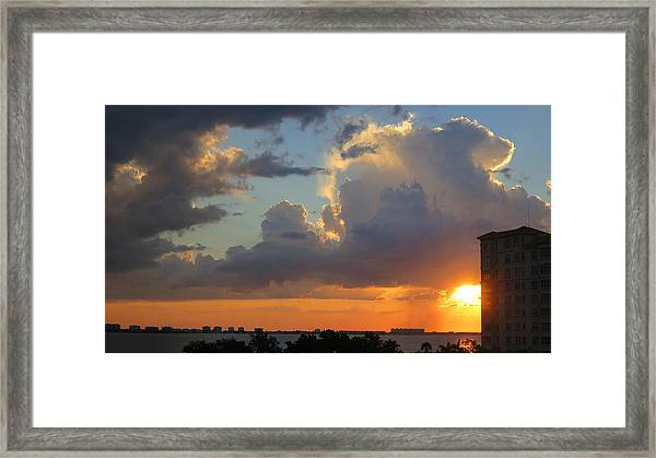 Sunset Shower Sarasota Framed Print