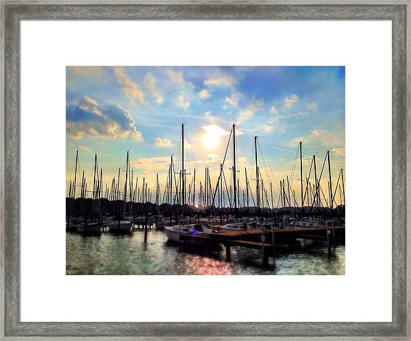 Sunset Cove Framed Print