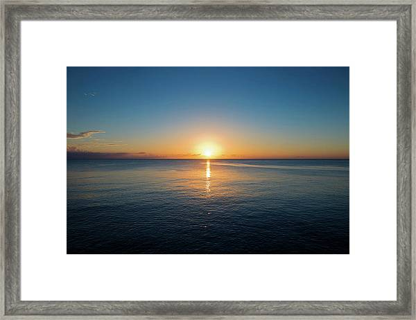 Sunset From The Cliffs, Negril, Jamaica Framed Print